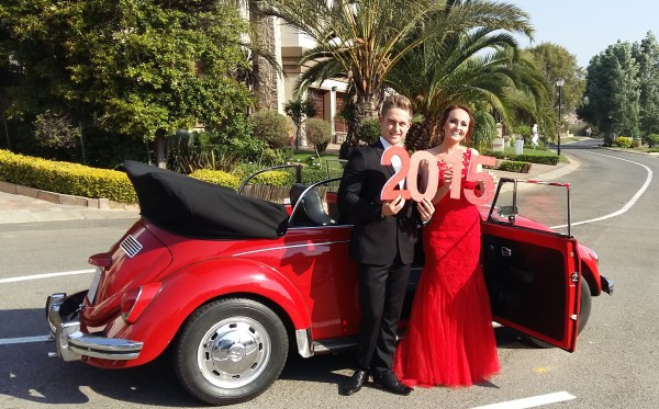 Matric Dance with Penny the VW Beetle convertible