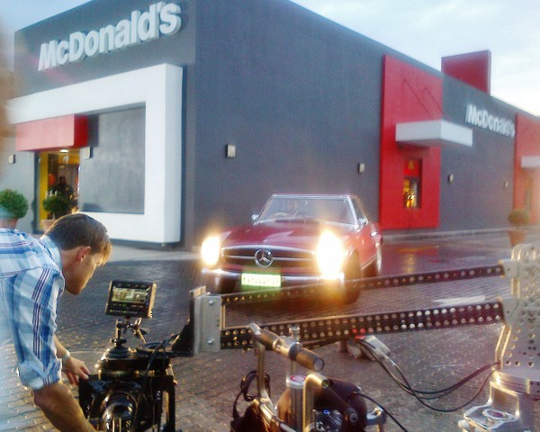 Merc Pagoda photo shoot for MacDonalds SA Classic Cars for Hire