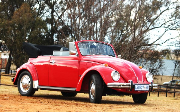 Bright Red 1968 Beetle Karmann Convetible Hire Classic Car Image