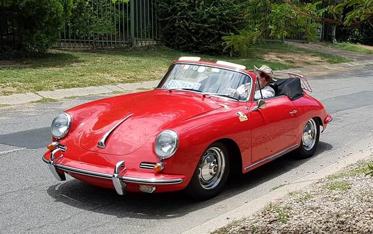 """Liesl "" 1960's 356 Red Porsche"